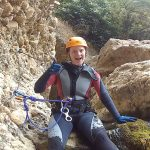 spainventure-canyoning-catherine-go-to-the-lagoon