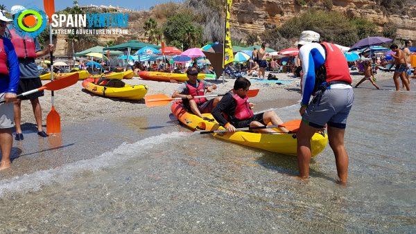 spainventure-kayaking-at-mediterranean-sea-50th-birthday-double-kayaking-nerja-fuengirola