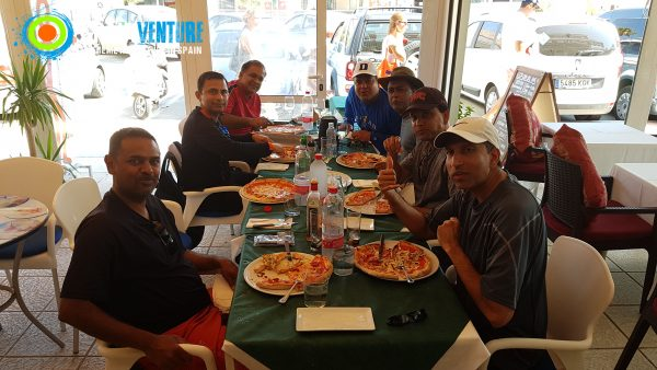 spainventure-kayaking-at-mediterranean-sea-50th-birthday-italian-pizza-fuengirola
