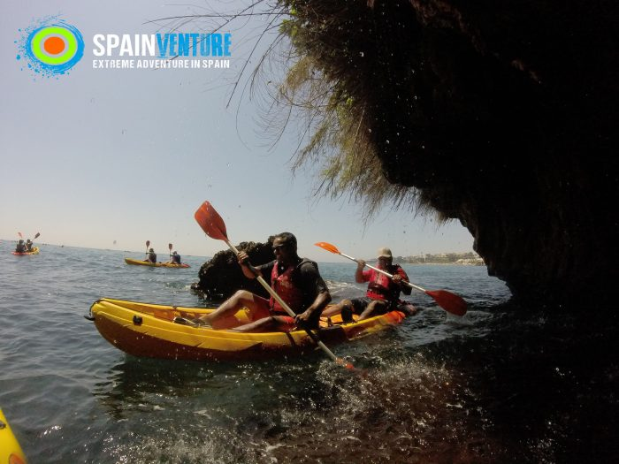 spainventure-kayaking-at-mediterranean-sea-50th-birthday-maro-falls-fuengirola