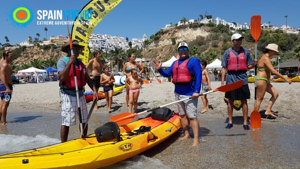spainventure-kayaking-at-mediterranean-sea-50th-birthday-nerja-beach-fuengirola