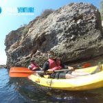 spainventure-kayaking-at-mediterranean-sea-50th-birthday-amazing stones-fuengirola aventura en kayak por el mediterraneo